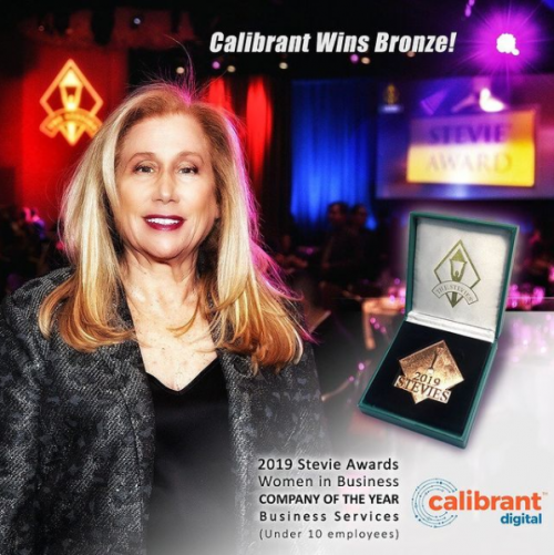 Calibrant Digital Receives Bronze Stevie Award For Women In Business – Company Of the Year Business Services – 10 Or Less Employees